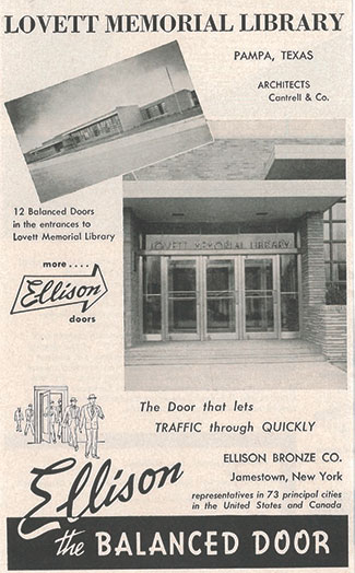 Ellison Old Ad - Memorial Library