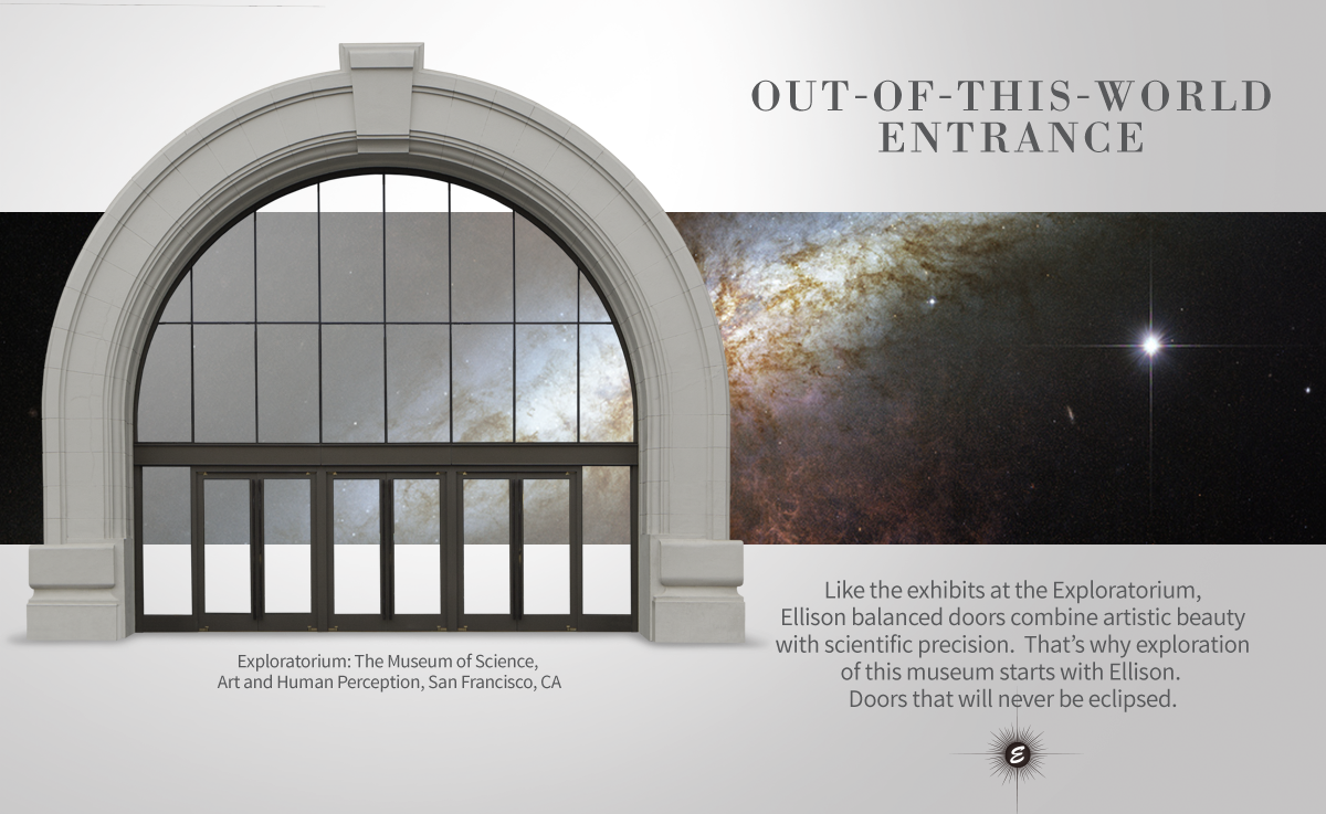 Exploratorium Balanced Entrance Doors