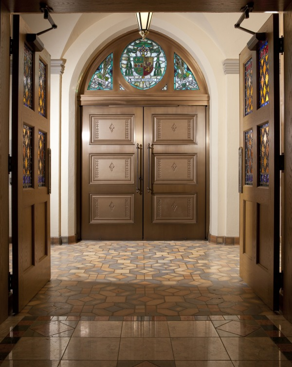 Ellison Provides Custom Balanced Doors for Cathedral