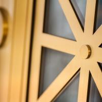 Old Point National Bank Formed Bronze Balanced Doors