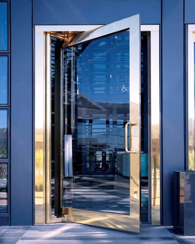 Formed Bronze Exposed Shaft & Design Options | Ellison Bronze - Custom Crafted Balanced Doors