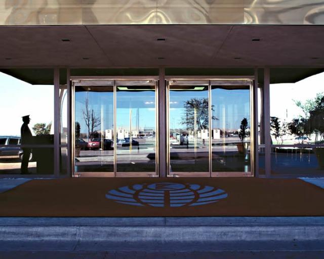 Narrow Stile Glass Balanced Door